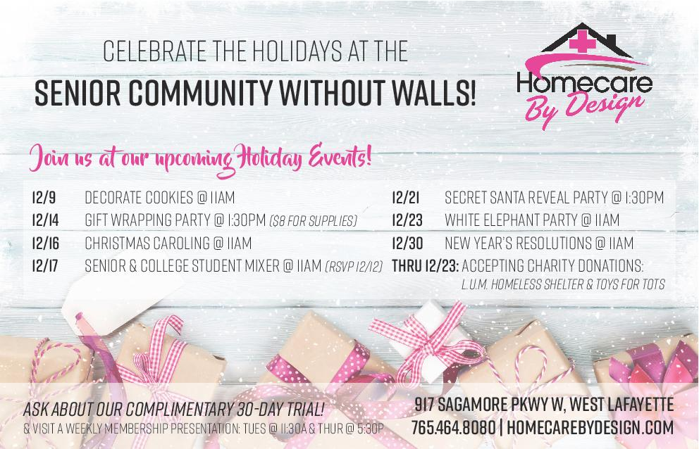 Celebrate the Holidays at the Senior Community without Walls!