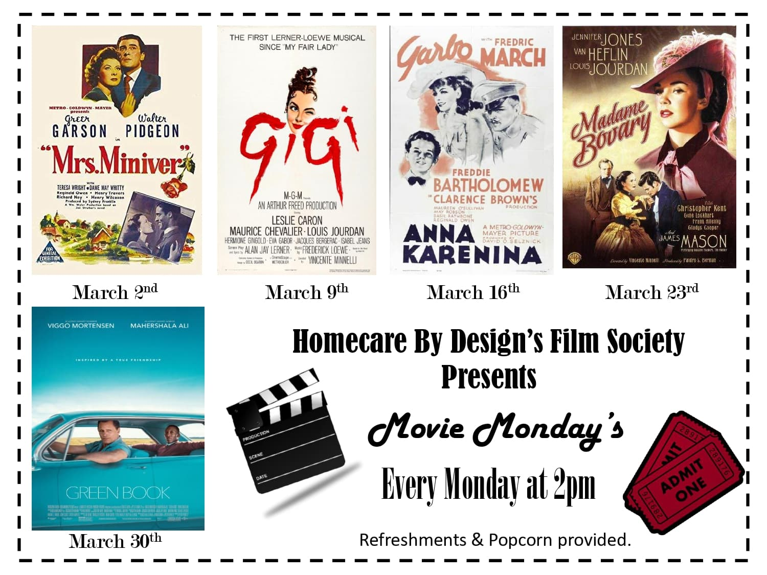 March Movie Mondays