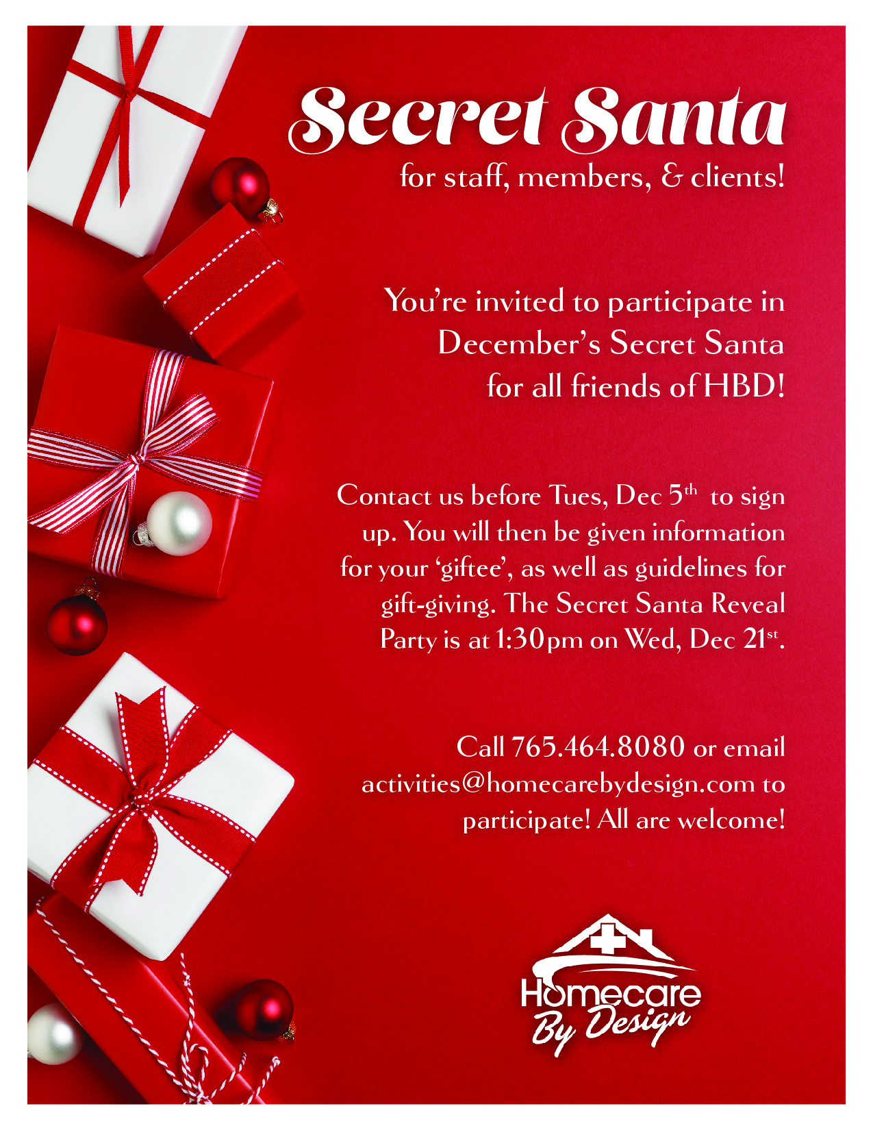 Secret Santa - Sign Up by 12/6!   Home Care & Personal ...   1275 x 1650 jpeg 3059kB