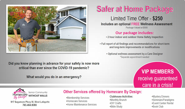Safer At Home Package Flyer